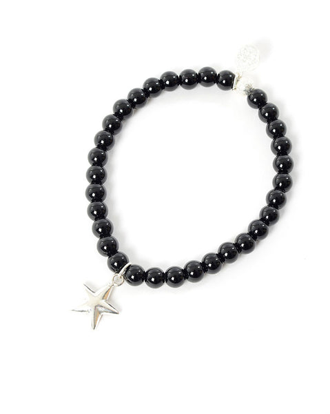 Three Spiritual Sisters Star Bracelet in Black Agate