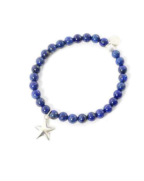 Three Spiritual Sisters Star Bracelet in Lapis Lazuli