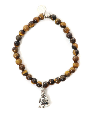 Three Spiritual Sisters Little Buddha Bracelet in Tigers Eye
