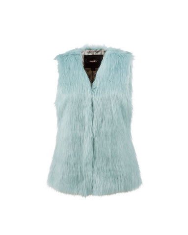 Unreal Fur Ill Take You Vest in Aqua