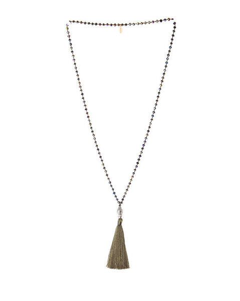 Zacasha Good Luck Buddha Necklace in Forest