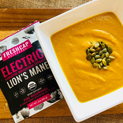 Feel The Vibes From This Electric Pumpkin Soup