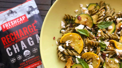 Satisfy Your Soul: Sundried Tomato and Zucchini Lentil Pasta with Chaga