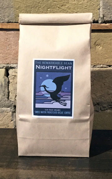 Nightflight Decaf. Coffee —-medium roast- Swiss water processed-454grams
