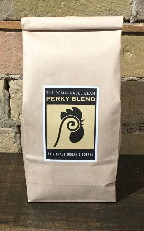 Perky Fair Coffee— medium/strong roast- rich, full, chocolate essence- 454grams