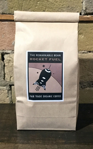 Rocket Fuel Coffee —-super dark roast- strong, bold, rich-454grams
