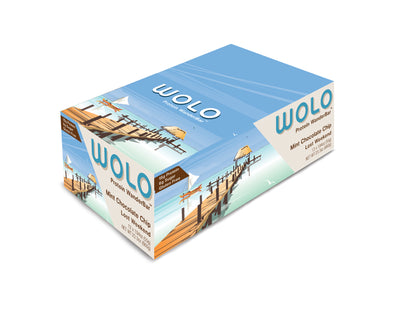 WOLO WanderBar™ Mint Chocolate Chip Protein Bar - Gluten Free & Soy Free
