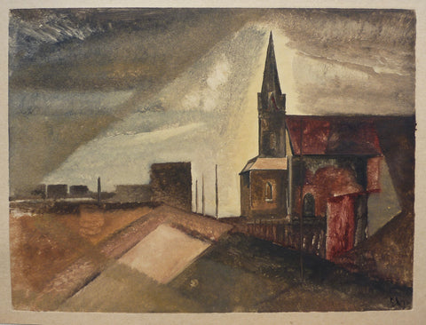 """Church"" by Sperry Andrews, Amer., (1917-2005)"