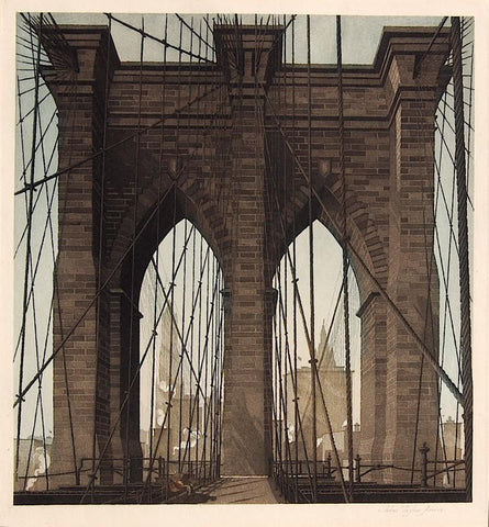 """The Gates of the City"" by John Taylor Arms, Amer., (1887-1953)"