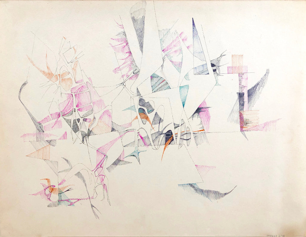 Indian Space Abstraction, Gertrude Barrer, Amer., (1921-1997),