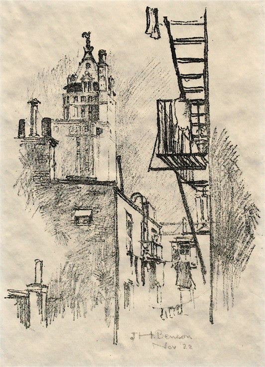 John Howard Benson Rooftops & Fire Escapes