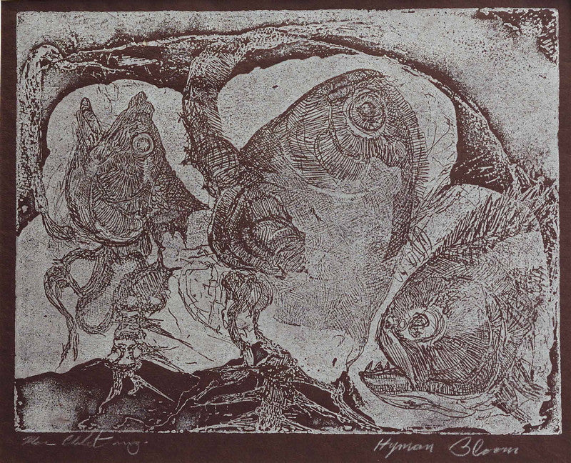 Hyman Bloom Three Fish Heads
