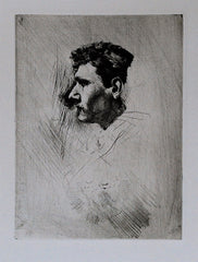 """Self Portrait in Profile"" by Robert Frederick Blum"