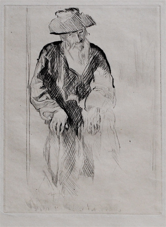 Frank W. Brangwyn Old man with Cane