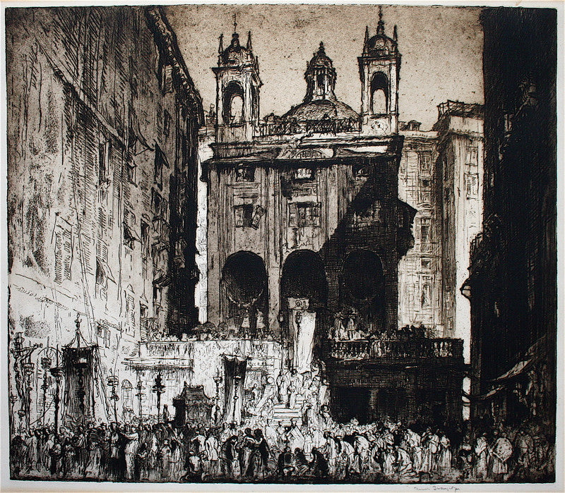 Frank W. Brangwyn St. Peter's of the Exchange, Genoa