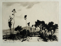 """Road in the Campagna, Rome"" by George Elbert Burr"
