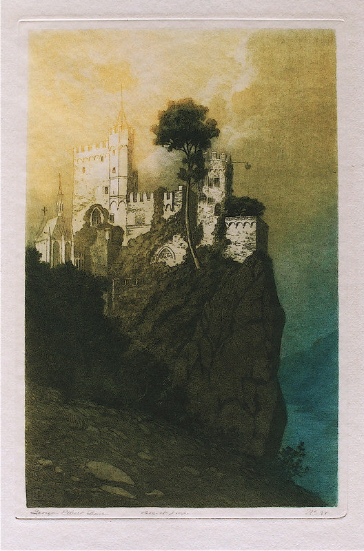 George Elbert Burr Rheinstein Castle on the Rhine