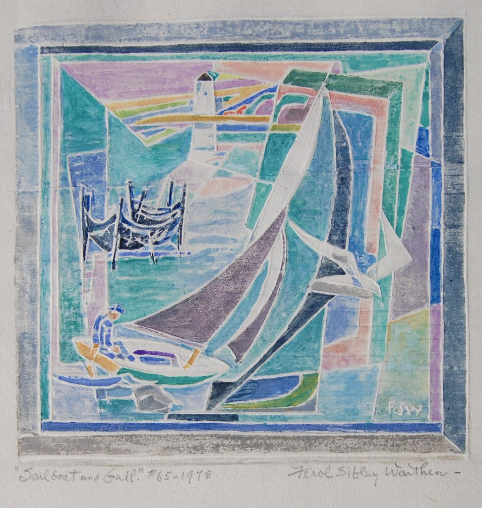 Ferol Sibley Warthen Sailboat and Gull