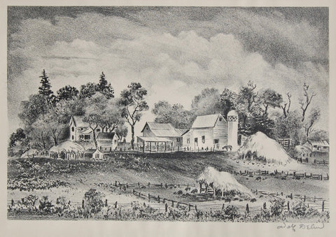 Adolf Dehn Minnesota Farmyard