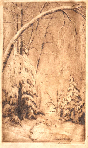 """Winter Path"" by Ozias Dodge, (Amer., 1868-1925)"