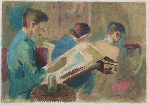 """The Art Class"" by Guy Pene du Bois, Amer., (1884-1958)"