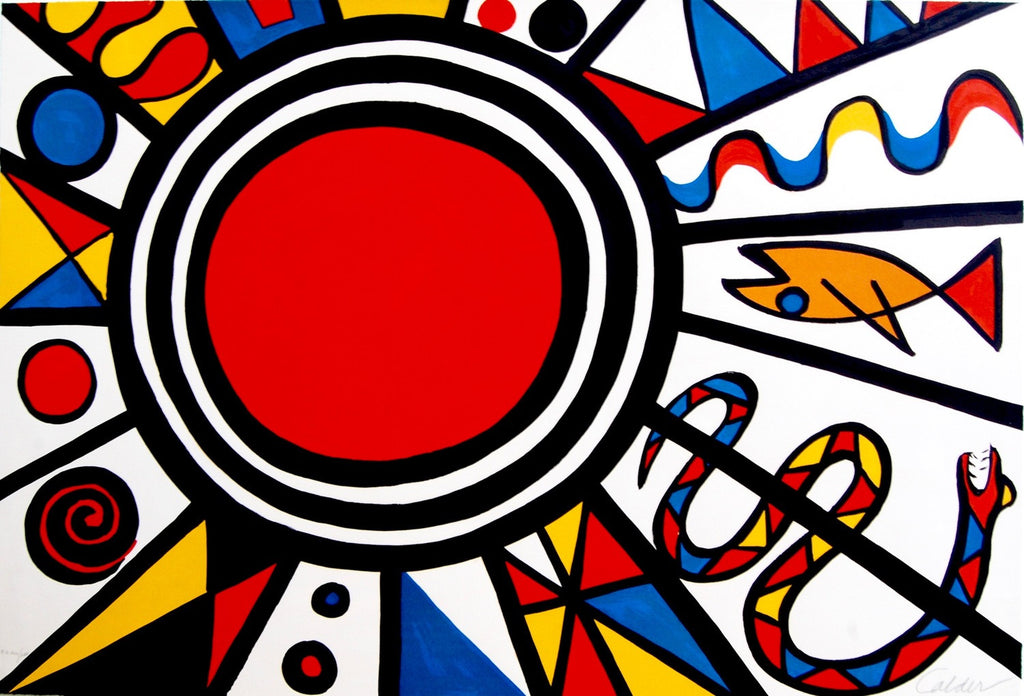 """Environment & Evolution: Creation"" by Alexander Calder, Amer., (1898-1976)"