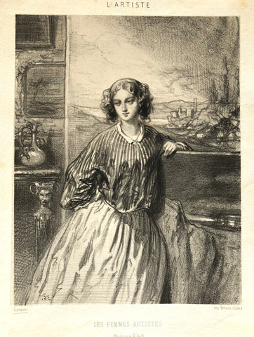 """Madame E. de B."" by Paul Gavarni, Fr., (1804-1866)"