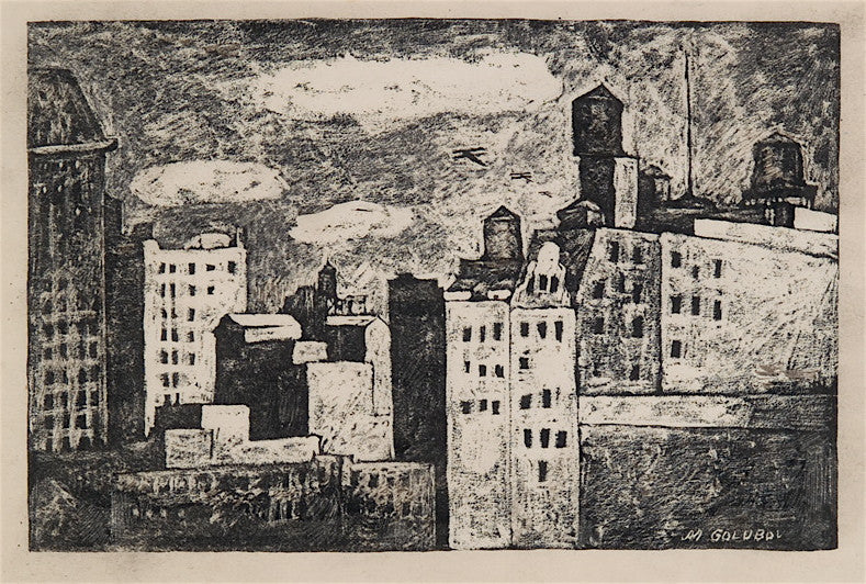 Maurice Golubov Water Towers and Buildings, New York