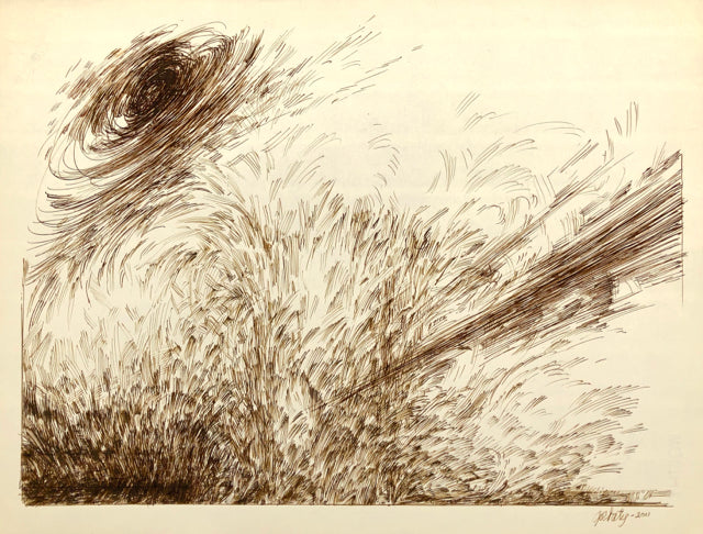 Turbulence, by Norman Gorbaty, Amer., (1932-2020)