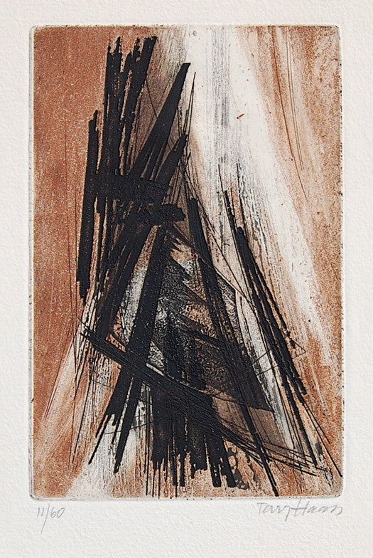 Terry Haass Untitled (Brown and Black Abstract)