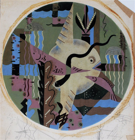 Douglas Reid Hansen Tondo Abstraction: Nautical Motif