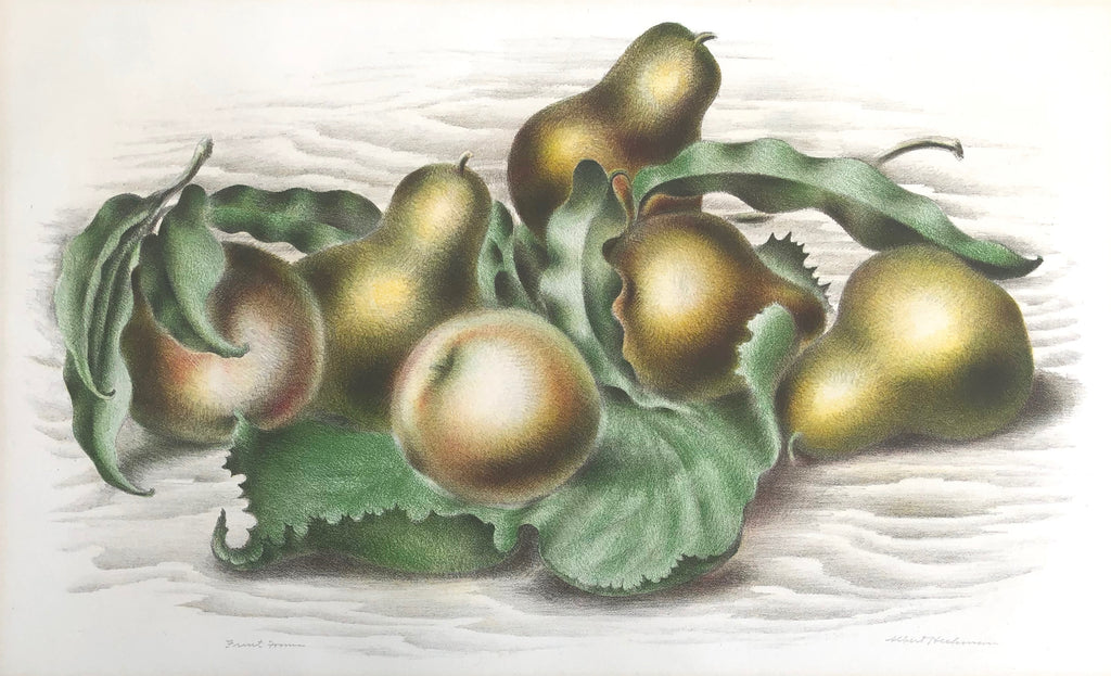 """Fruit Forms"" by Albert Heckman, Amer., (1893-1971)"