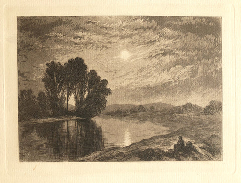 """Moonlight on the Androscoggin"" by John Henry Hill, Amer., (1839-1922)"