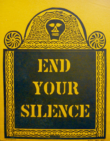 """END YOUR SILENCE"" by William Kent, (Amer.,1919-2012)"
