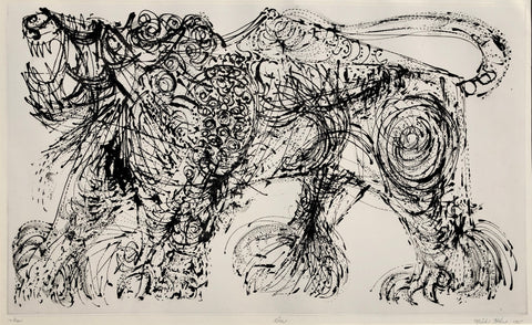 """Lion"" by Misch Kohn, (1916-2002)"