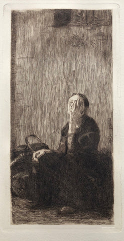 An der Kirchenmauer (By the Church Wall), by Kathe Kollwitz, (German, (1878-1945)