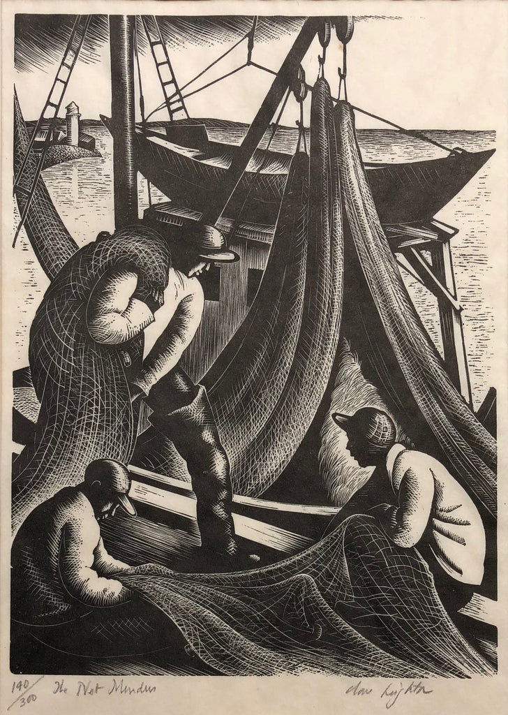 """The Net Menders"" Clare Leighton, (Eng.-Amer., 1898-1989)"