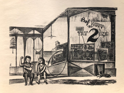 """Tattoo Parlor"" by Marian Lerer, Amer., (1928-2017)"