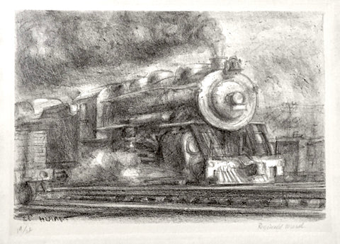 """Railroad"" by Reginald Marsh, Amer., (1898-1954)"