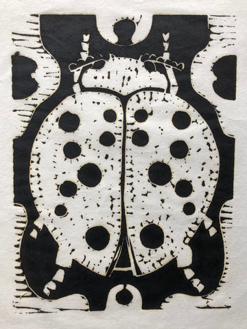 """Lady Bug Beetle"" by M. G. Martin, Amer., (1931-2013)"