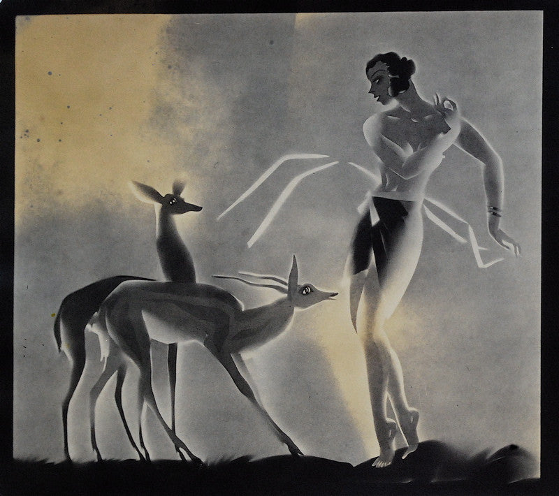 Samuel Davis Otis Diana with Two Deer
