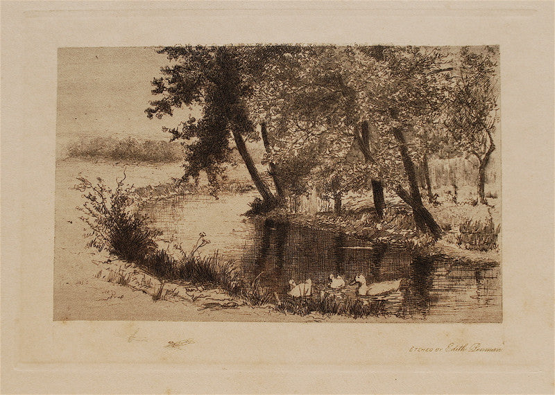 Edith Penman Bend in a Steam with Three Ducks