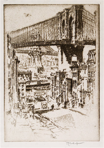 Joseph Pennell The Bridges from Brooklyn