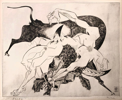 Death of the Matador,  by Gabor Peterdi, Amer., (1915-1991)