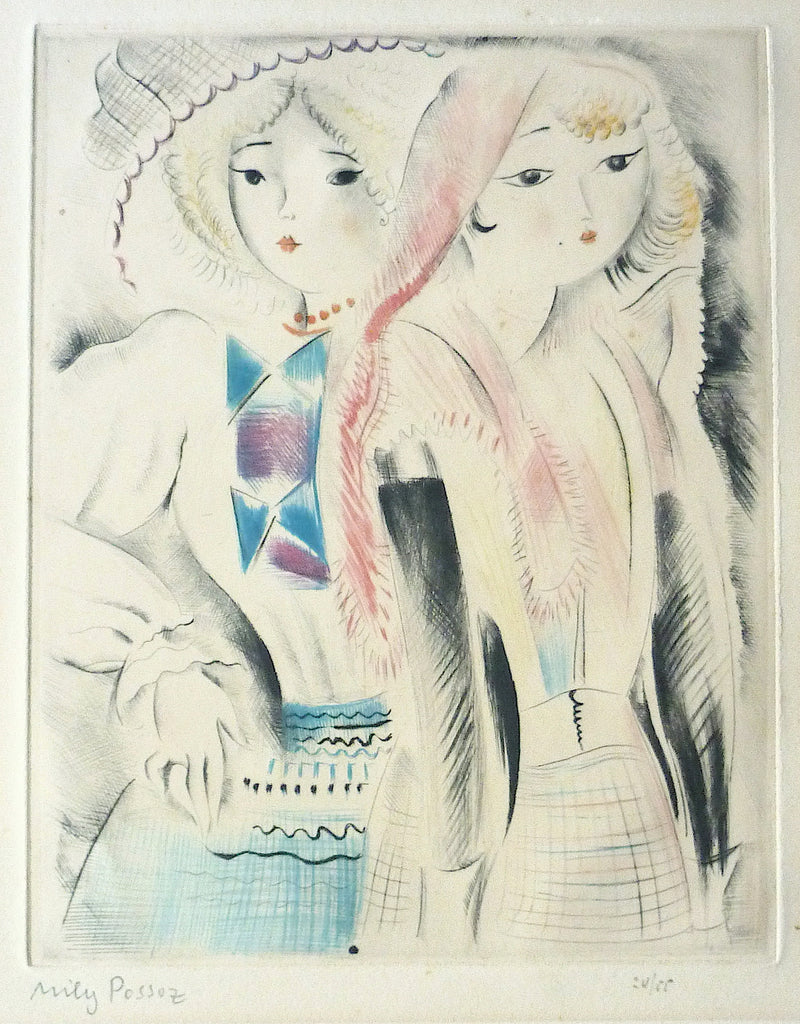 """Les Dieux Amies"" by Mily Possoz, Portuguese - French, (1888-1967)"