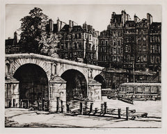 """Le Pont Marie, Paris"" by Henry Rushbury"