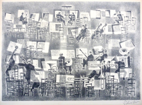 """Musical Interlude"" by George Schreiber, (Amer., 1904-1977)"