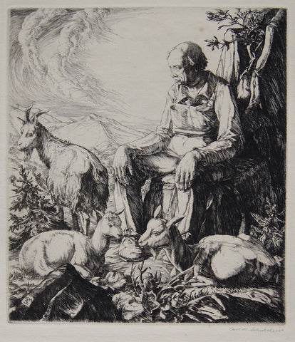 """Pastoral One"", Carl M. Schultheiss, N. A., Amer., (1885-1961)"