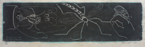 """Insects and Hands"" by William Kent (Amer., 1919-2012)"