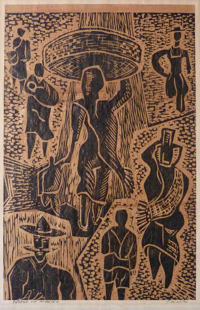 """People in Mexico"" by Jacob, Amer., (20th Century)"